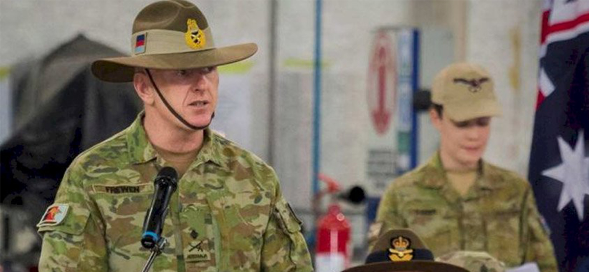 Lieutenant General John Frewen to head up military taskforce on Coronavirus